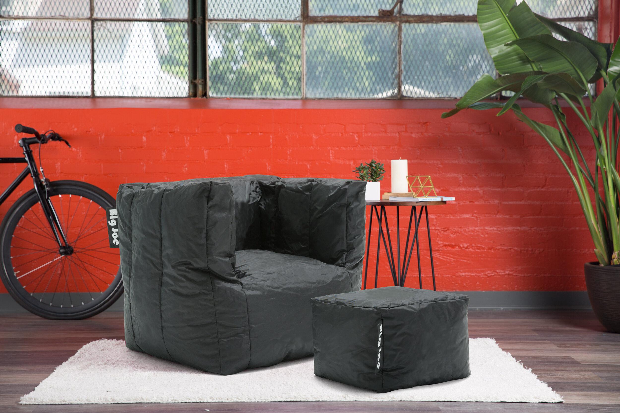 Sensational Big Joe 2 Piece Smartmax Cube Medium Bean Bag Set Evergreenethics Interior Chair Design Evergreenethicsorg