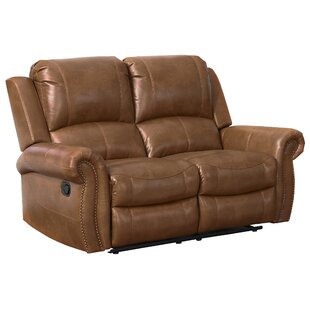 Bitter Root Leather Reclining Loveseat by Darby Home Co Comparison