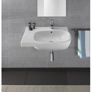 Find Moda Vitreous China 26 Wall Mount Bathroom Sink with Overflow By Bissonnet