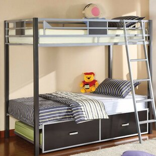 Hannover Twin over Twin Bunk Bed with Trundle and Drawers by Zoomie Kids