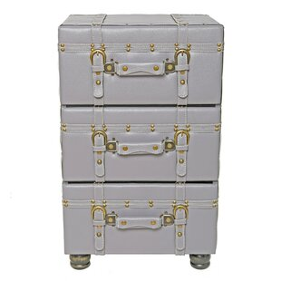Williston Forge Mederos 3 Drawer Trunk Accent Cabinet