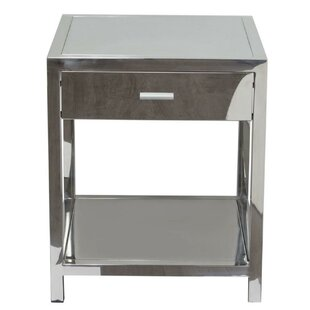 Katara Square Stainless Steel End Table by Orren Ellis