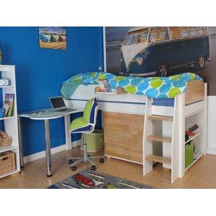 Jodi European Single Mid Sleeper Bed With Desk By Zoomie Kids