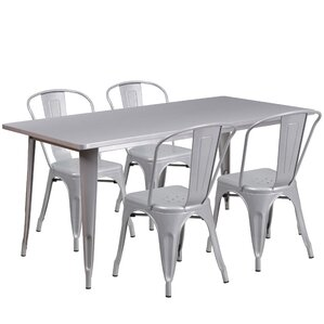 Corrado 5 Piece Dining Set by Mercury Row