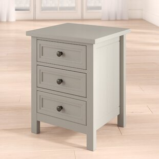 Trident 3 Drawer Bedside Table