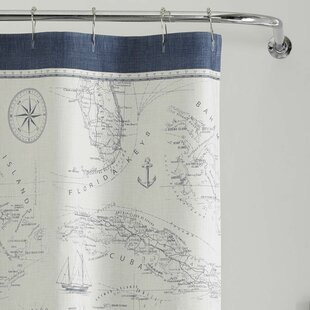 Caribbean Sea Cotton Shower Curtain By Tommy Bahama Home