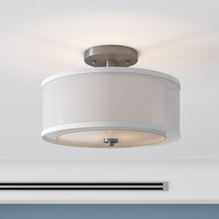Nettie 3-Light Semi Flush Mount by Zipcode Design