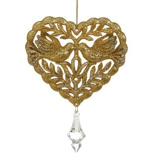 heart ornaments wayfair