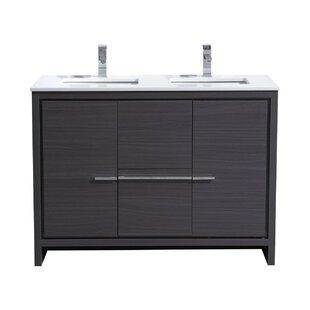 48 inch vanity double sink. Bosley 48  Double Sink Modern Bathroom Vanity Inch Vanities AllModern