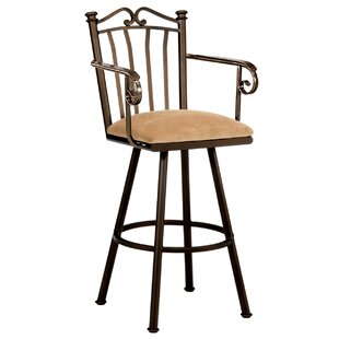 Howley 26 Swivel Bar Stool Red Barrel Studio