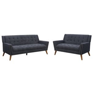 Read Reviews Brierley 2 Piece Living Room Set by Everly Quinn Reviews (2019) & Buyer's Guide