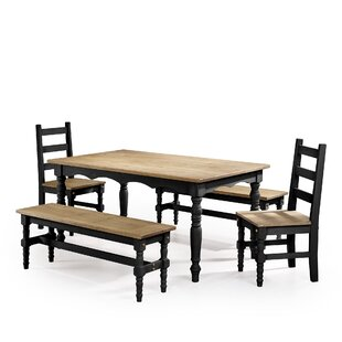 Pinard 5 Piece Solid Wood Dining Set by G..