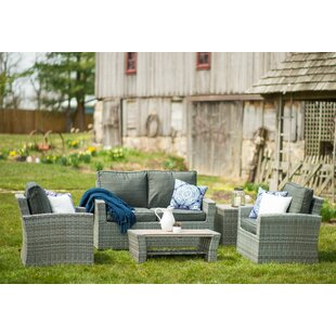 Warrenton 5 Piece Sofa Set with Cushions