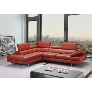 Orren Ellis Carolyn Leather Sectional