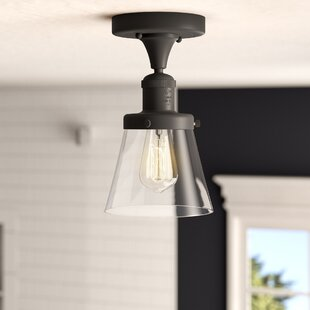 Cavet 1-Light Semi Flush Mount by 17 Stories