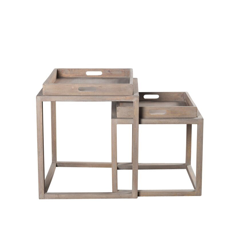 Union Rustic Worle Sled End Table Wayfair