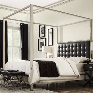 Alek Upholstered Canopy Bed