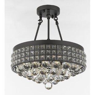 Gracie Oaks Alana 4-Light Crystal Chandelier