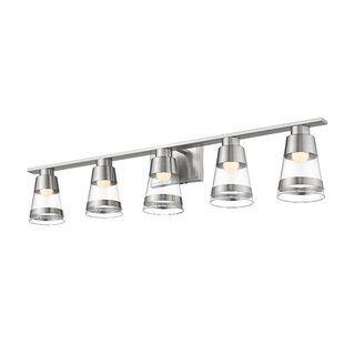 Jacey 5-Light LED Vanity Light by Breakwater Bay