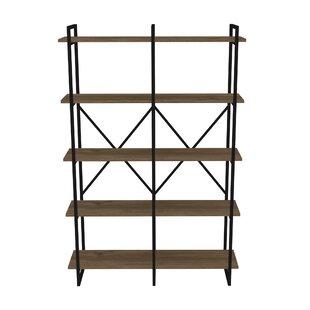 Strange Metal Framed Double 5 Shelf Etagere Bookcase