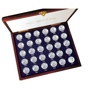 30 Years of US Mint Half Dollars Each Struck of .900 Fine Silver Display Box By American Coin Treasures
