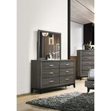 Addicus 6 Drawer Double Dresser with Mirror by Red Barrel Studio®