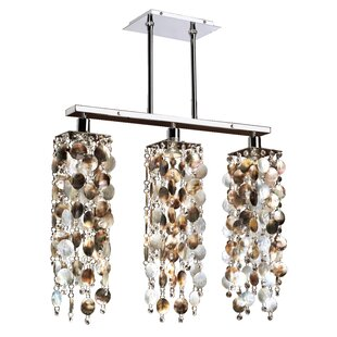 Charest Mother Of Pearl 3 Light Kitchen Island Pendant