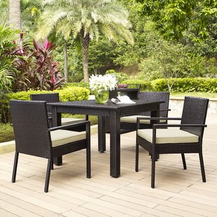 Mercury Row Belton 5 Piece Dining Set with Cushions