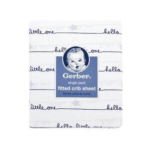 """Gerberu00ae """"Hello Little One"""" Fitted Crib Sheet"""