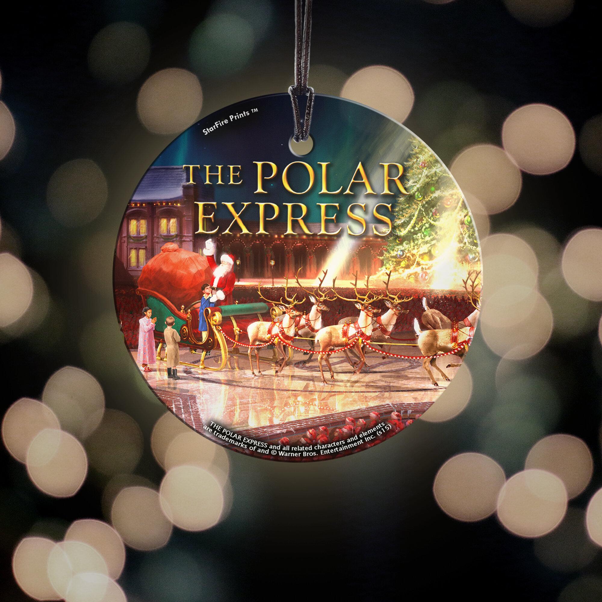 Trend Setters Polar Express Sleigh Starfire Prints Hanging Glass Decoration Wayfair