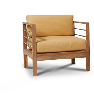 Rosecliff Heights Crisfield Teak Patio Chair with Sunbrella Cushions