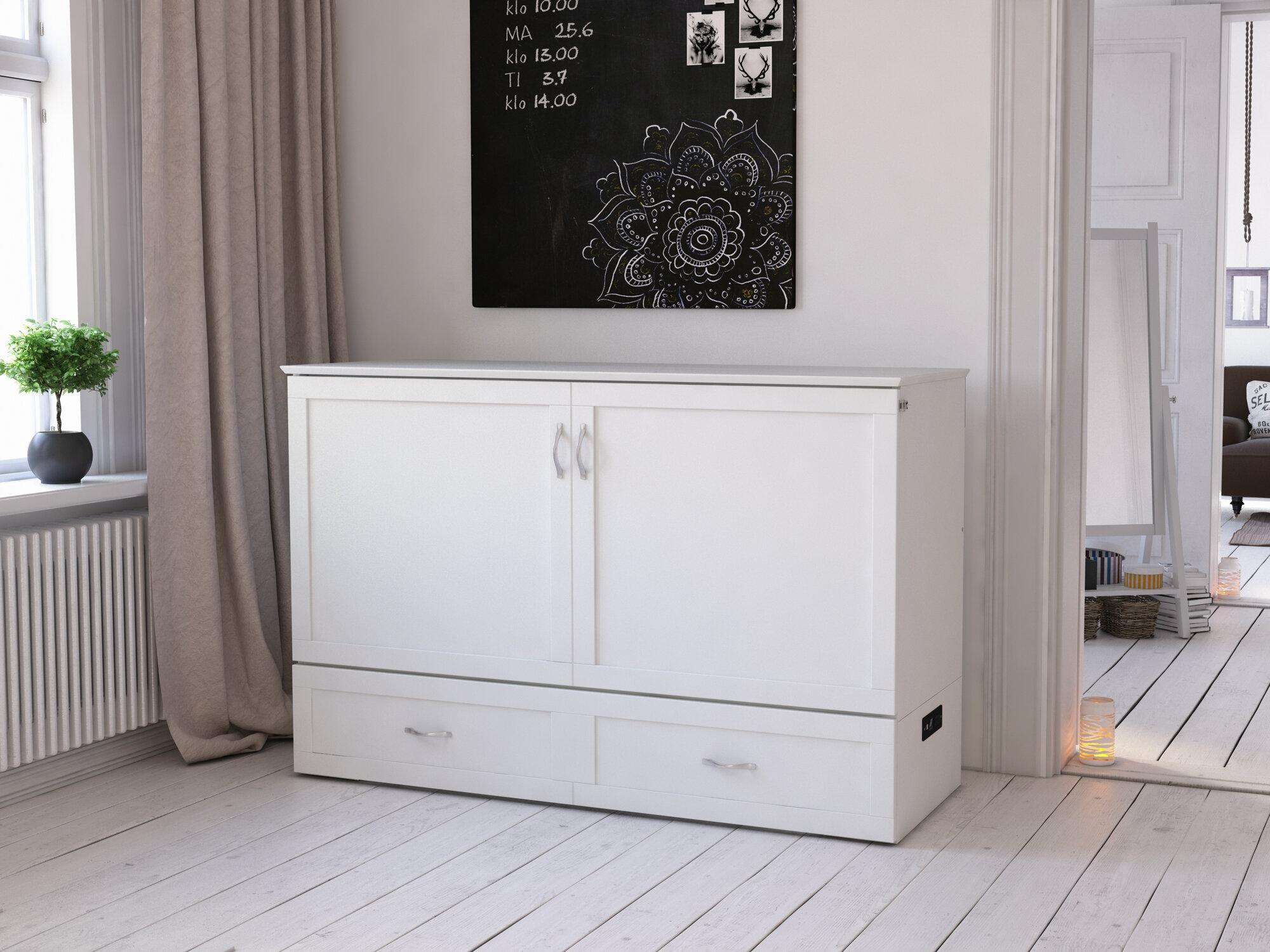 Canora Grey Audet Queen Storage Murphy Bed With Mattress Reviews