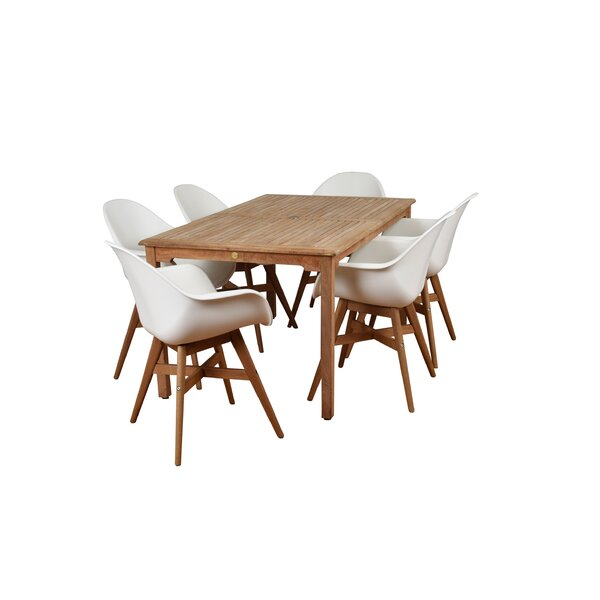Modern & Contemporary Curved Teak Dining Set | AllModern