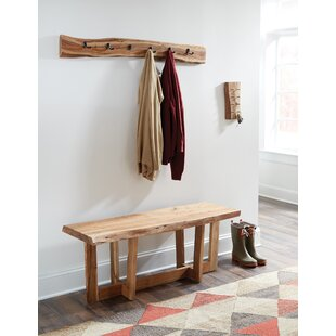 Beyers Live Edge Wood Bench by Foundry Select