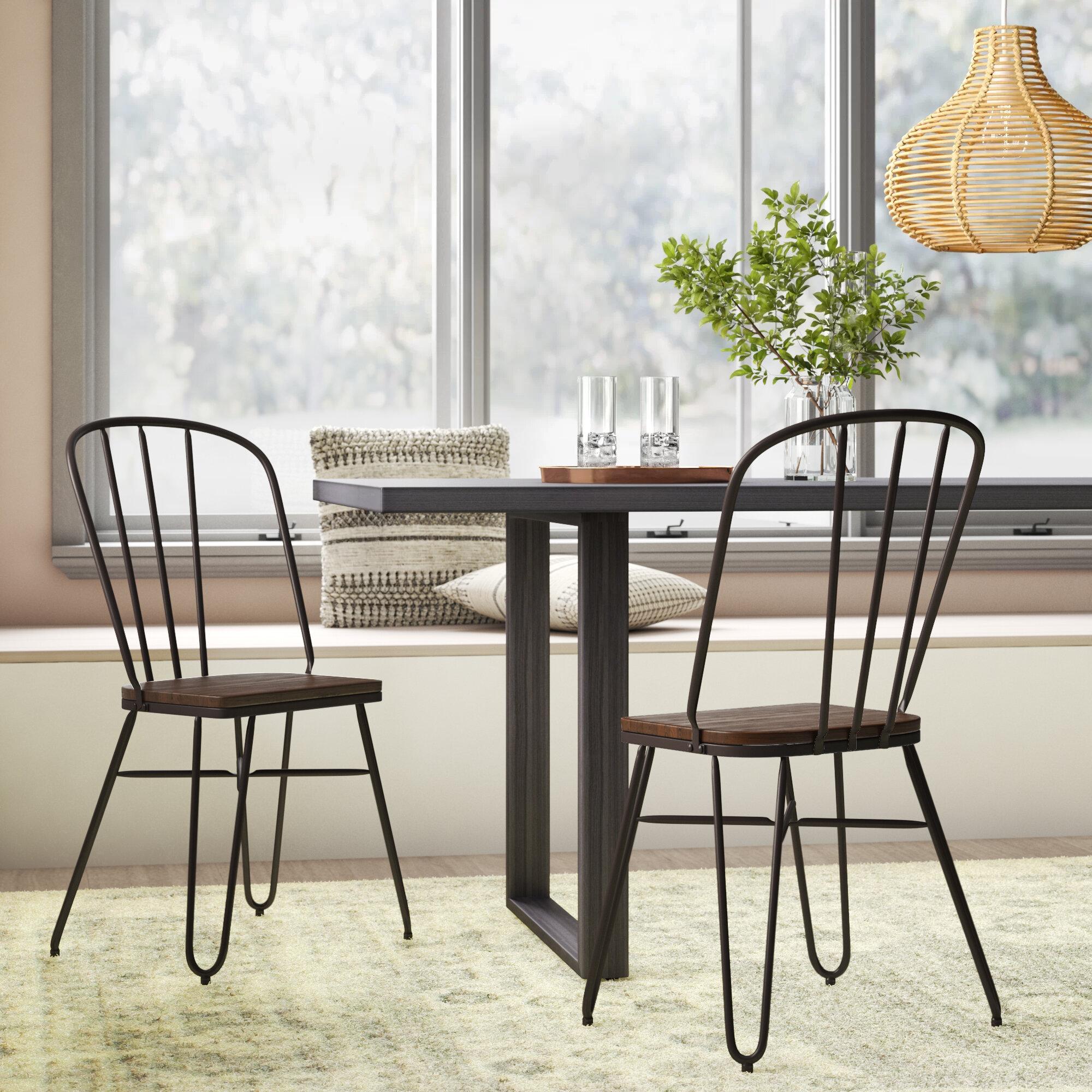 Szymanski Industrial Solid Wood Dining Chair