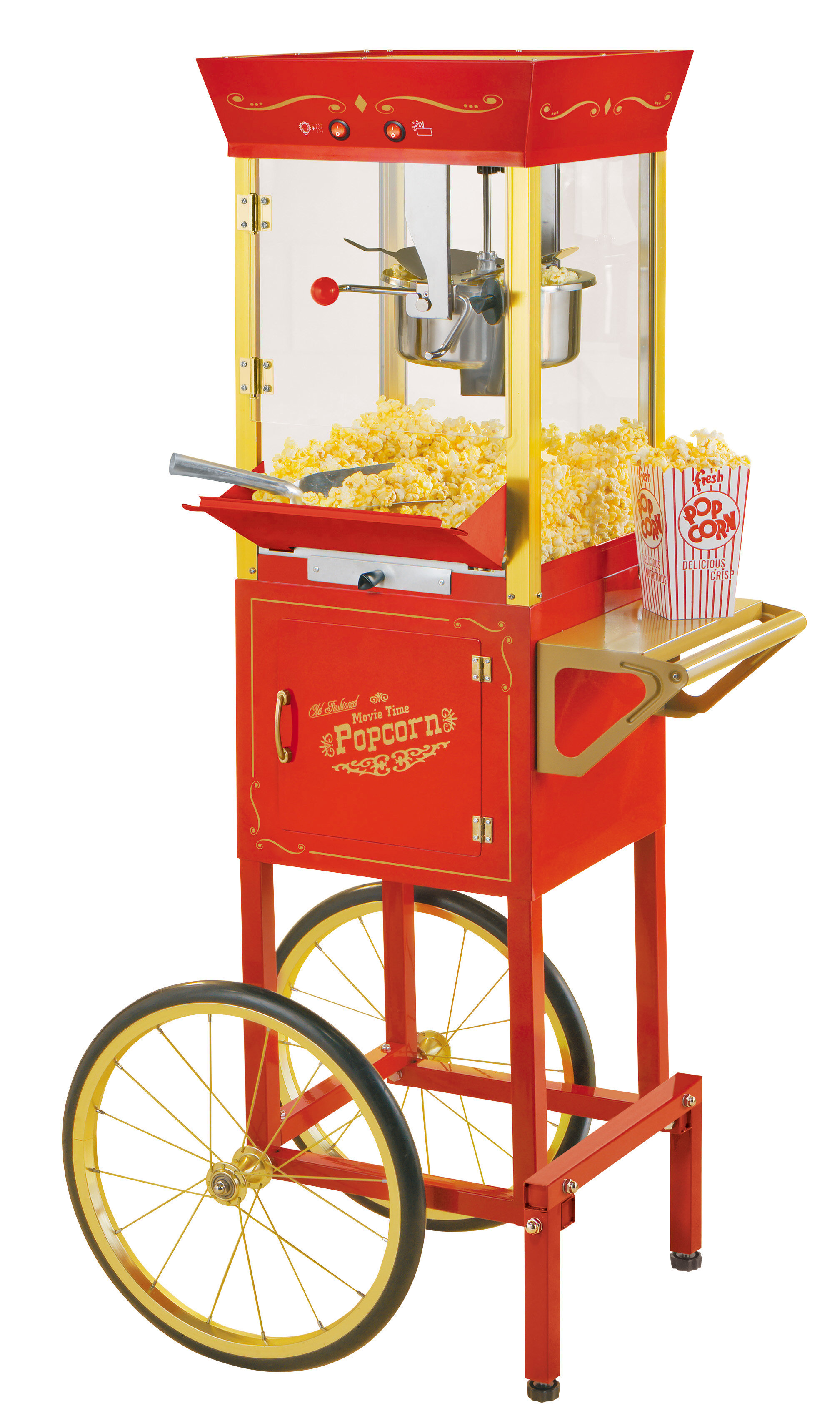 3c574b6e51 Nostalgia Electrics Nostalgia 6 oz. Vintage Circus Popcorn Cart Maker    Reviews