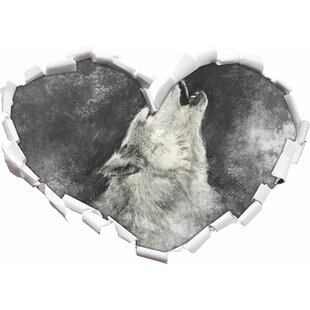 Howling Wolf Art Wall Sticker By East Urban Home