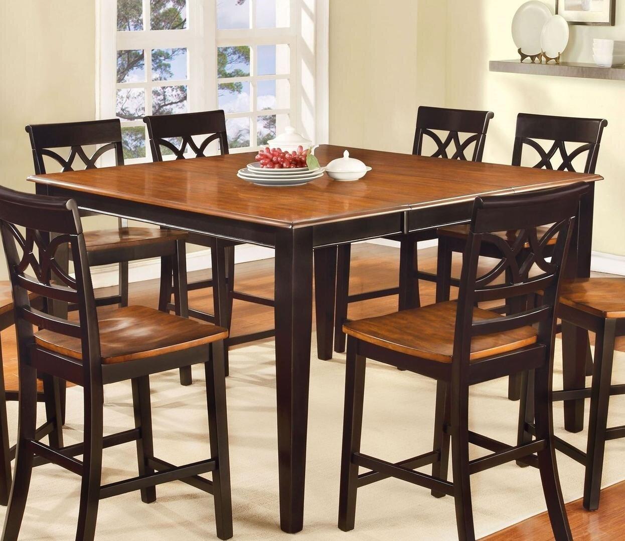 Red Barrel Studio Braith Counter Height Extendable Dining Table Wayfair