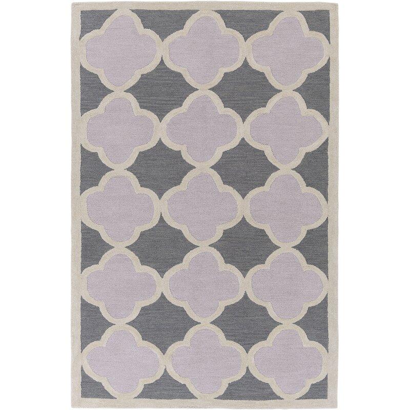 Red Barrel Studio Corson Geometric Handmade Tufted Gray Silver Area Rug Reviews Wayfair