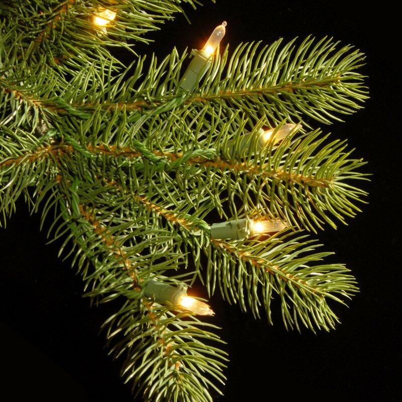 Douglas Fir Christmas Tree.Downswept Douglas Fir 7 5 Green Slim Fir Artificial Christmas Tree With 600 Pre Lit Clear Lights With Stand