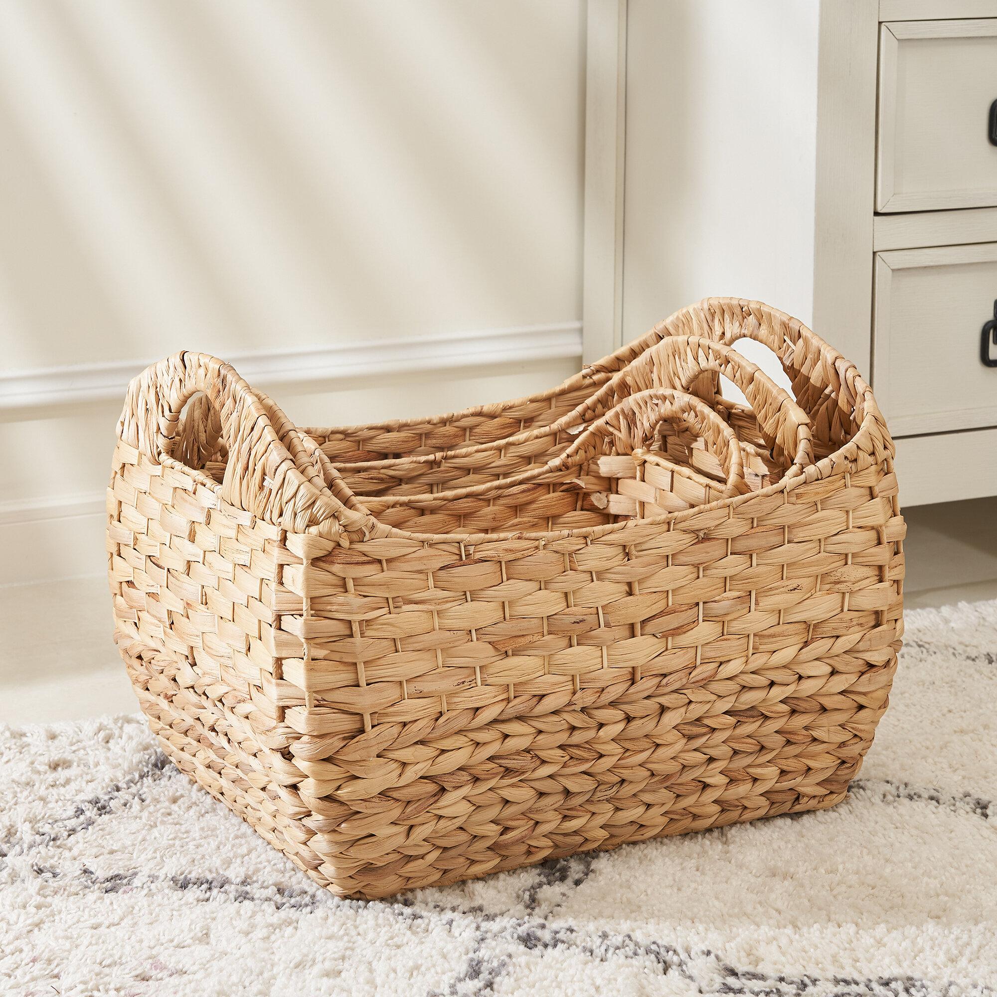 Dovecove Amelia 3 Piece Wicker Basket Set Reviews Wayfair