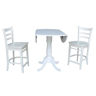 Ollie 3 Piece Pub Table Set Canora Grey