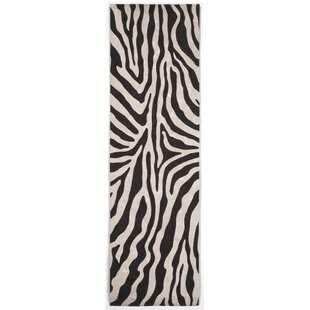 Davina Black Zebra Indoor/Outdoor AreaRug