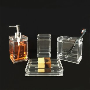 Wade Logan Bird Acrylic 4-Piece Bathroom Accessory Set