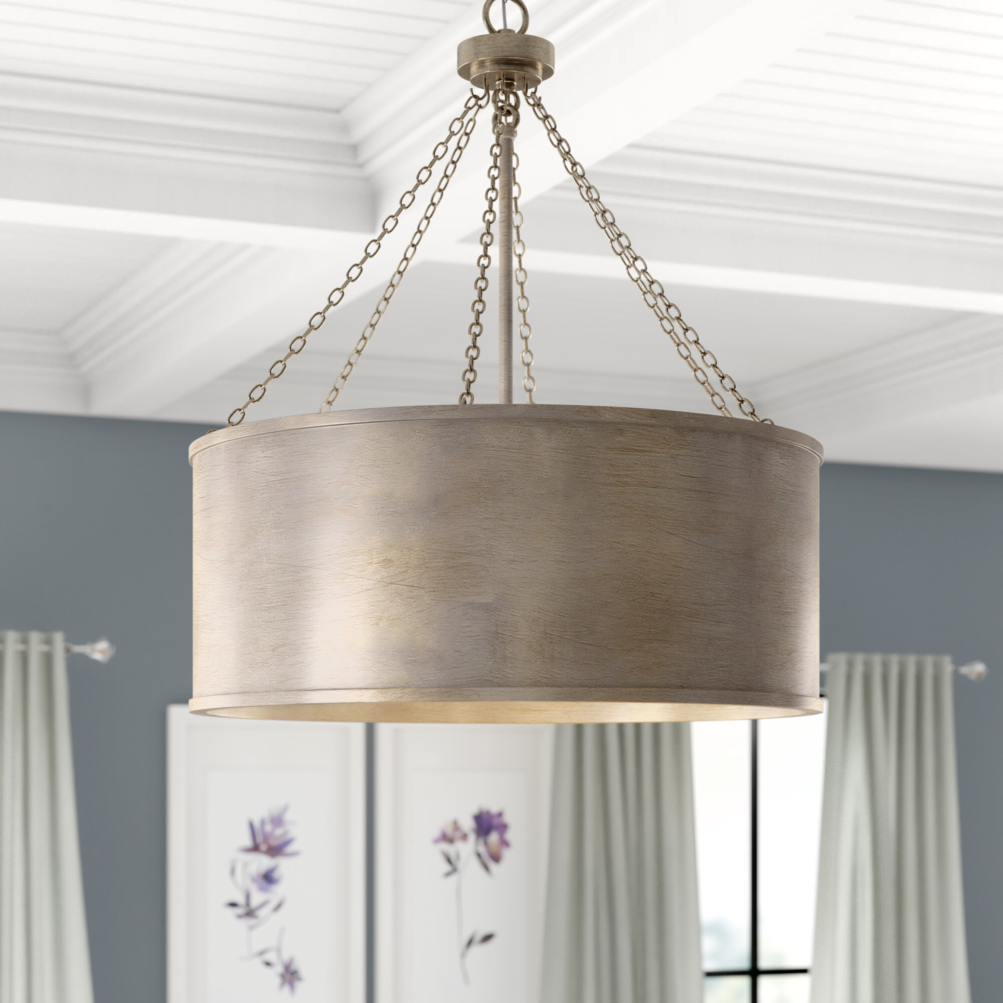 Bella 6 Light Shaded Drum Chandelier Joss Main