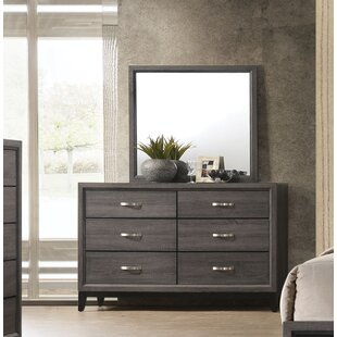 Beare 6 Drawer Dresser with Mirror