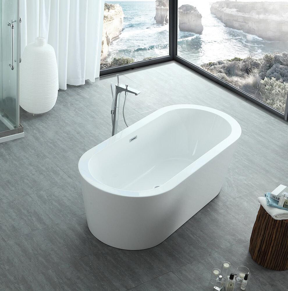 Eisen Home Dionysus Freestanding Soaking Bathtub   Wayfair