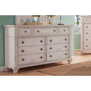Dorinda Vintage Style 9 Drawer Standard Dresser by One Allium Way