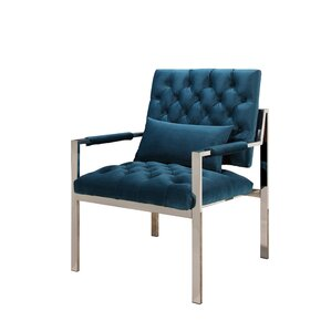 Botelho Stainless Steel Arm Chair by Everly Quinn