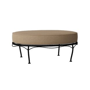 Fullerton Universal Oval Ottoman with Cushions by Woodard